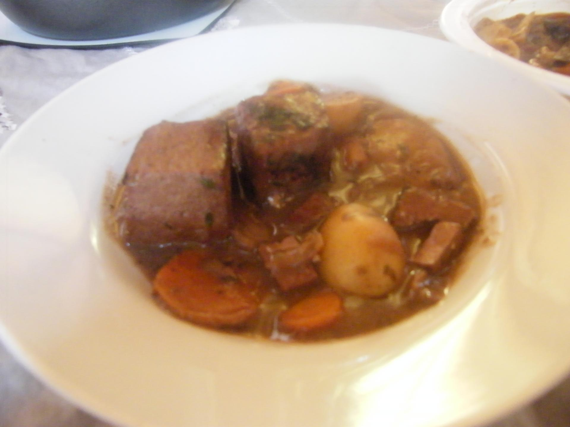 Bourguignon de tofu